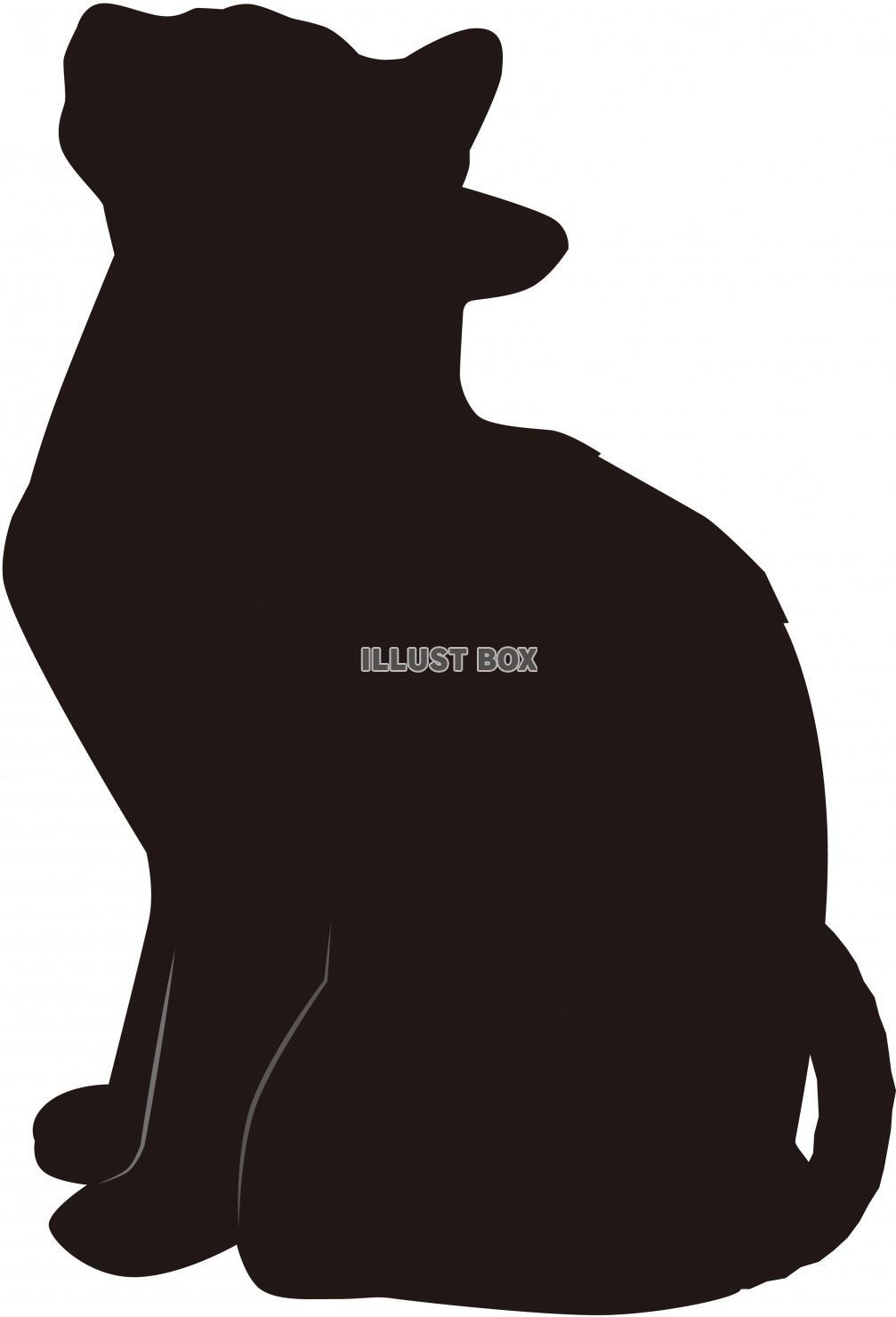 猫 白黒 シルエット イラストが無料 イラストボックス