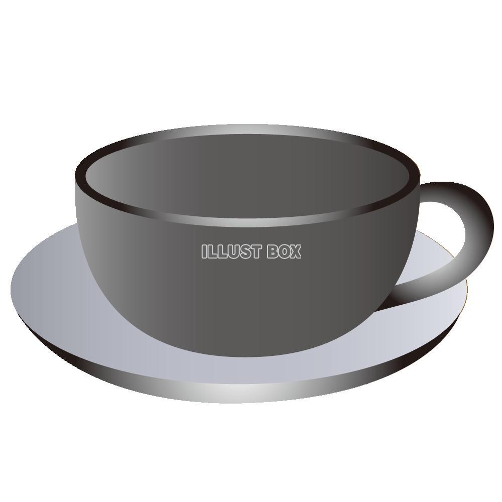 無料イラスト 陶器のコーヒーカップ3
