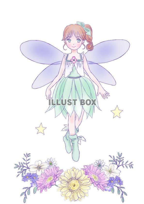 無料イラスト 花の妖精jpeg