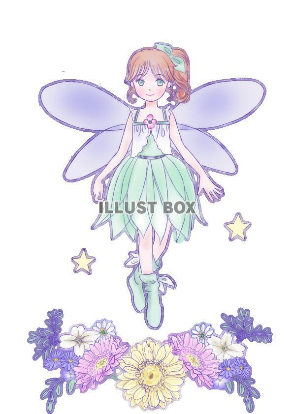無料イラスト 花の妖精png