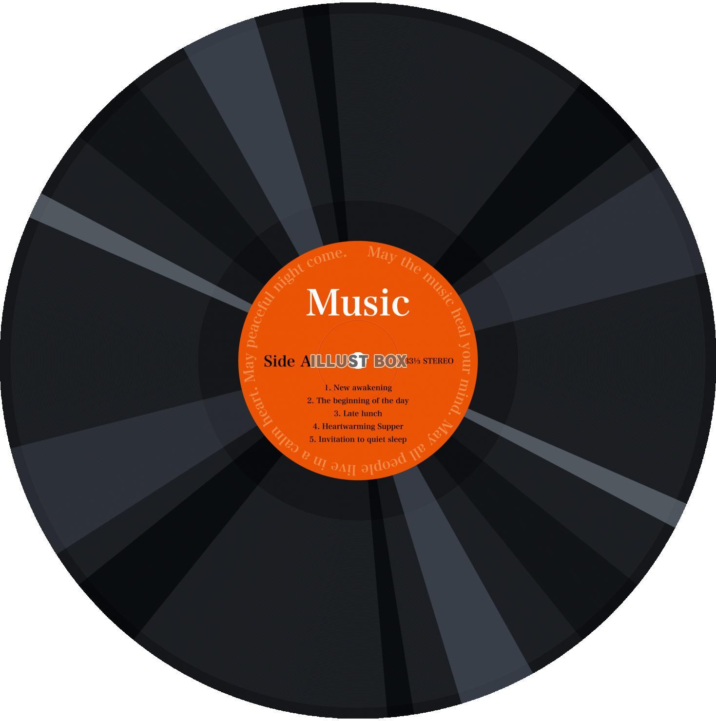 レコードの無料イラスト