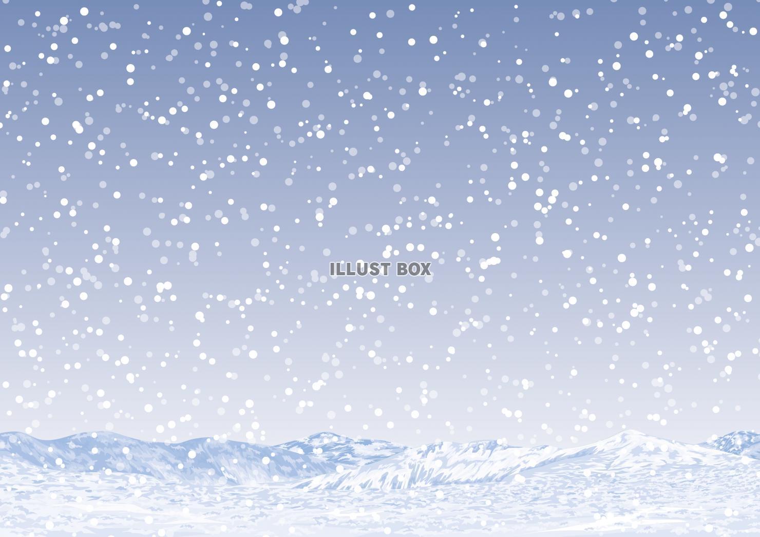 無料イラスト 冬のイメージ 雪景色 壁紙