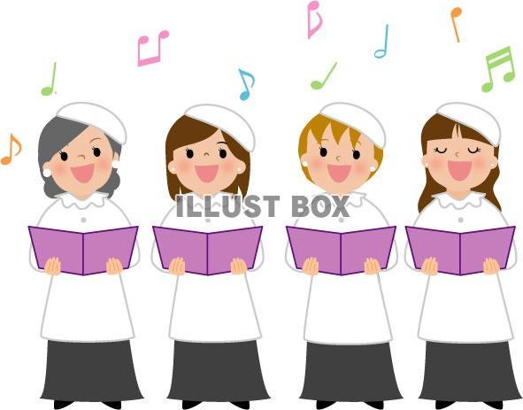 無料イラスト 音楽イラスト 教会女声合唱