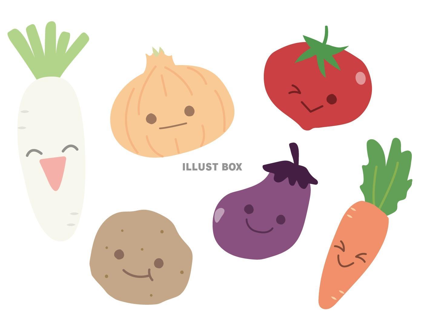 無料イラスト かわいい野菜1