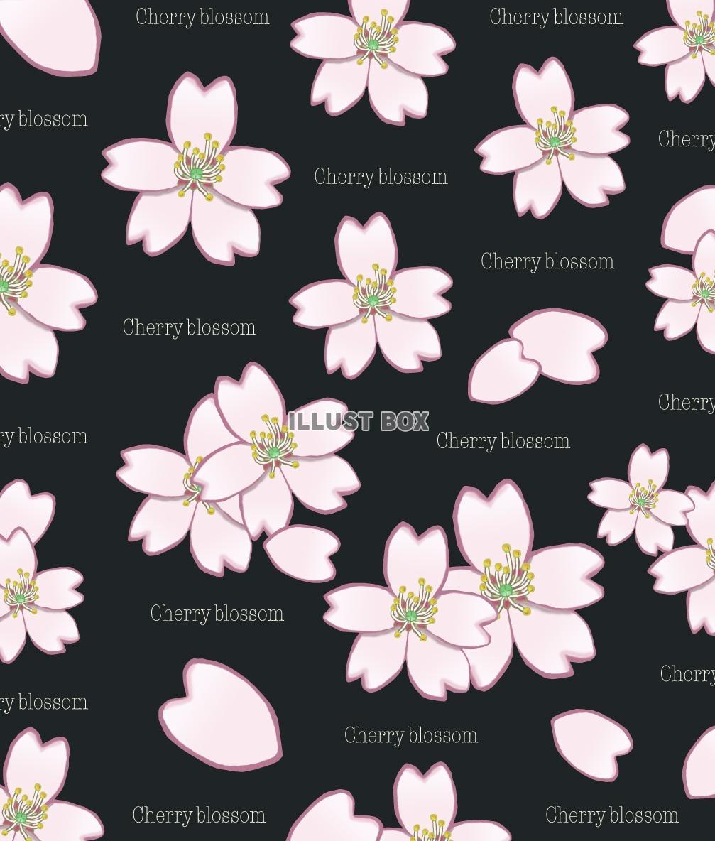 無料イラスト 桜の壁紙 黒 Jpg