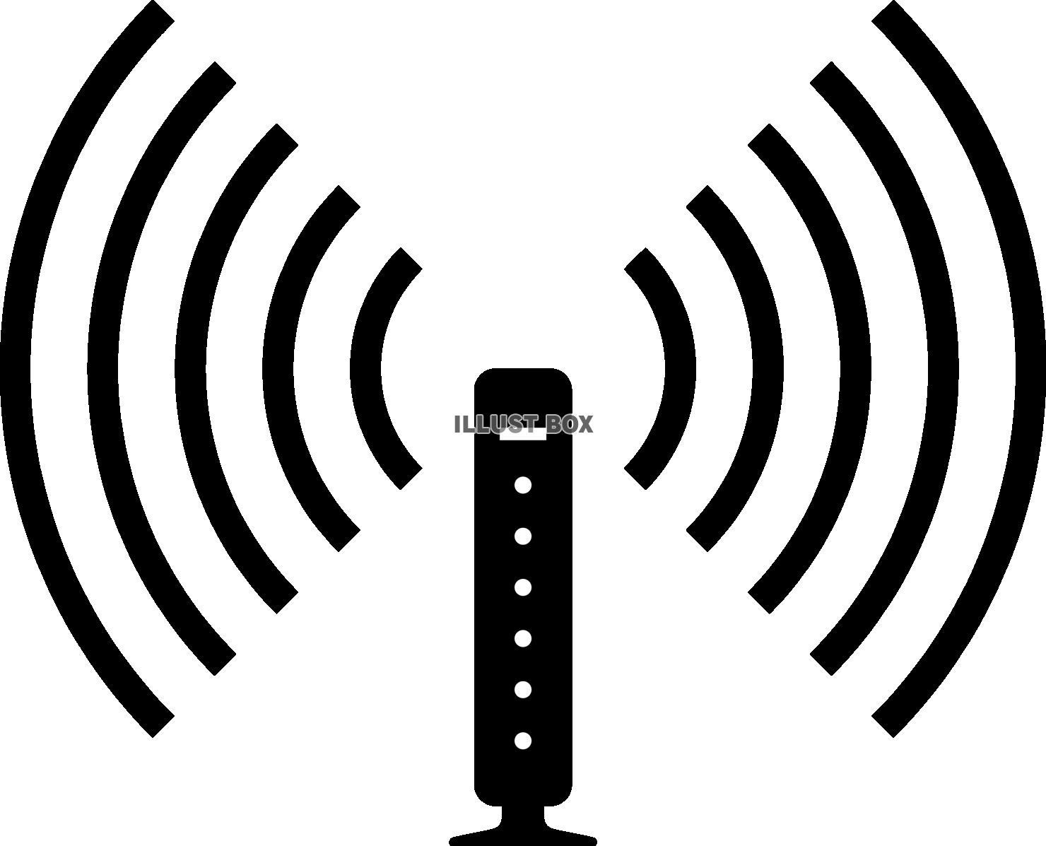 無料イラスト 無線lan Wi-Fi ルーター