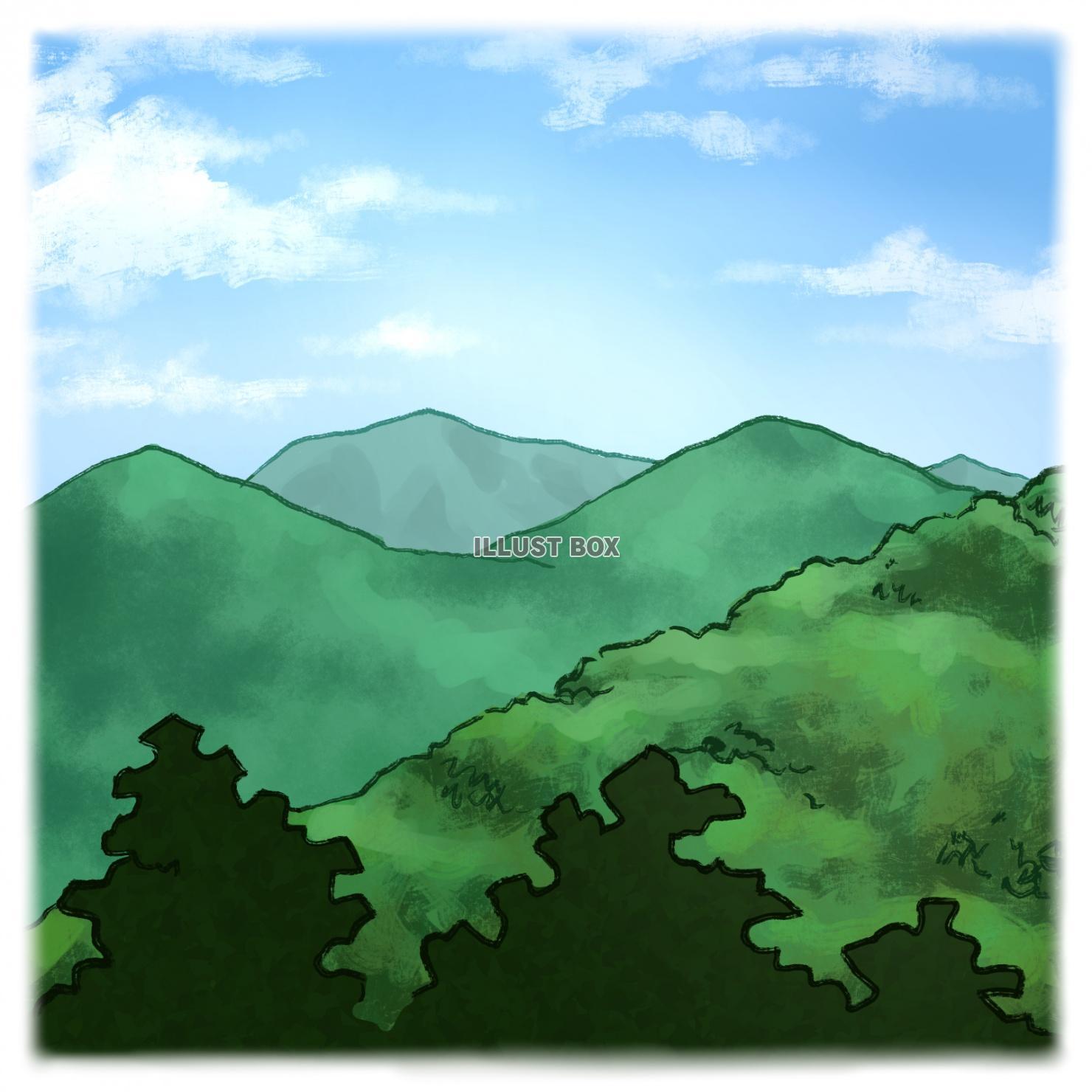 無料イラスト 山の風景