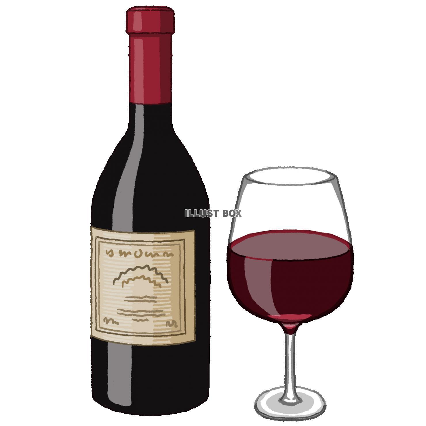 無料イラスト ワイン