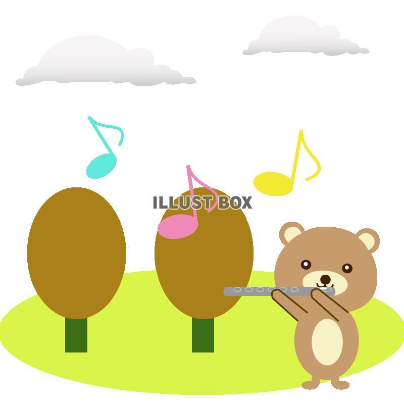 無料イラスト 森の音楽会