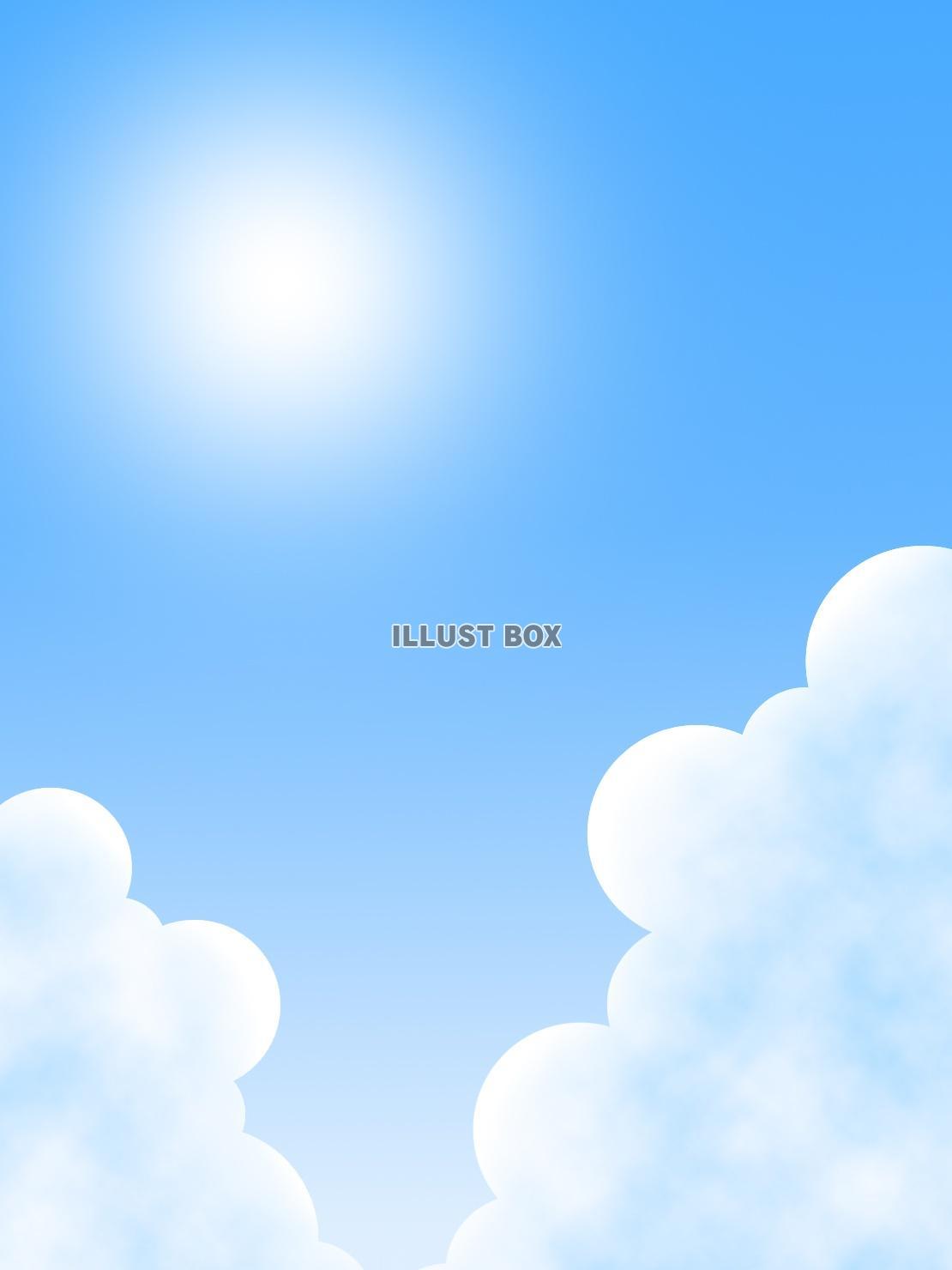 無料イラスト 夏の空の壁紙画像シンプル背景素材イラスト
