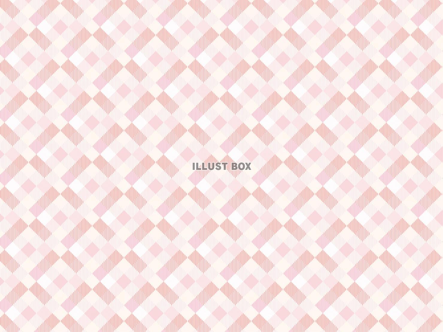 無料イラスト パターンピンク背景かわいいチェックシンプル壁紙飾り