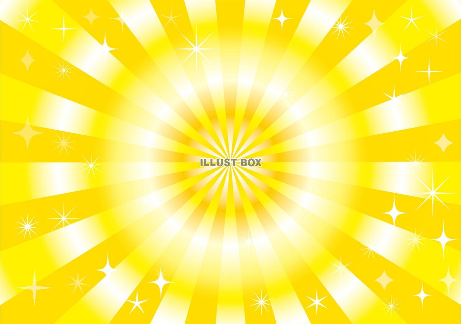 無料イラスト キラキラ 背景飾り枠 黄おしゃれフレーム枠壁紙 黄色