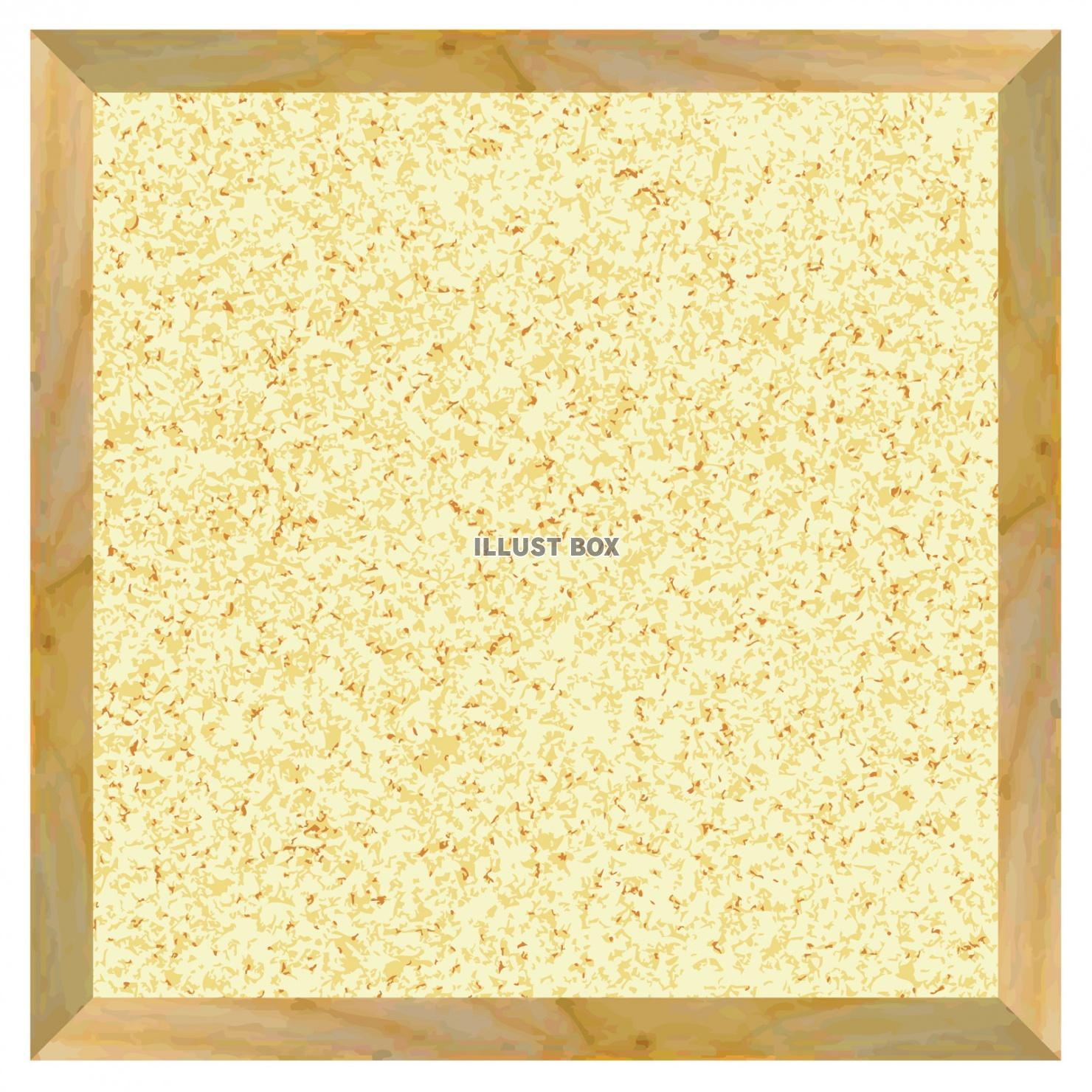 無料イラスト コルクボード飾り枠シンプル背景紙装飾テクスチャ壁紙看板額バッ