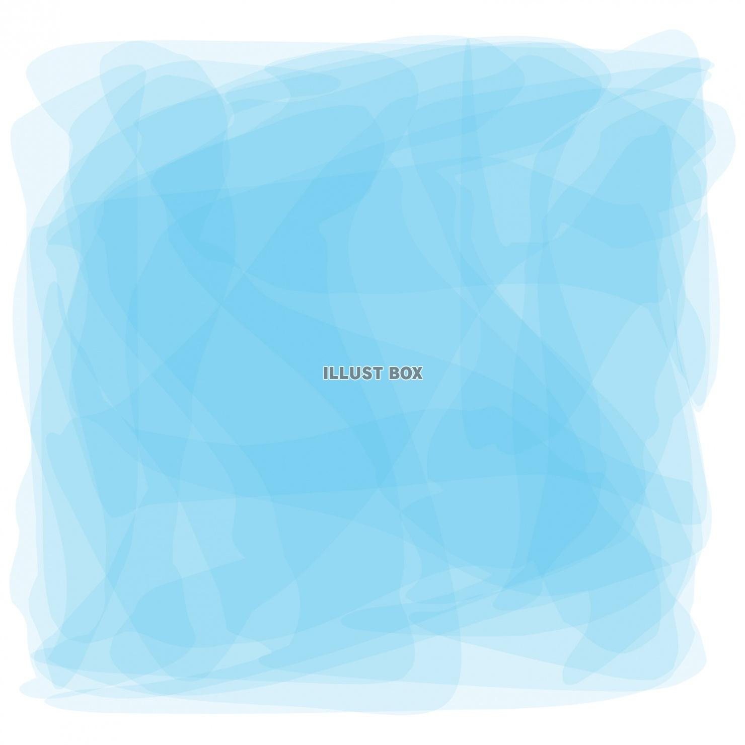 無料イラスト 水色水彩おしゃれフレーム枠シンプル手描き枠飾り壁紙