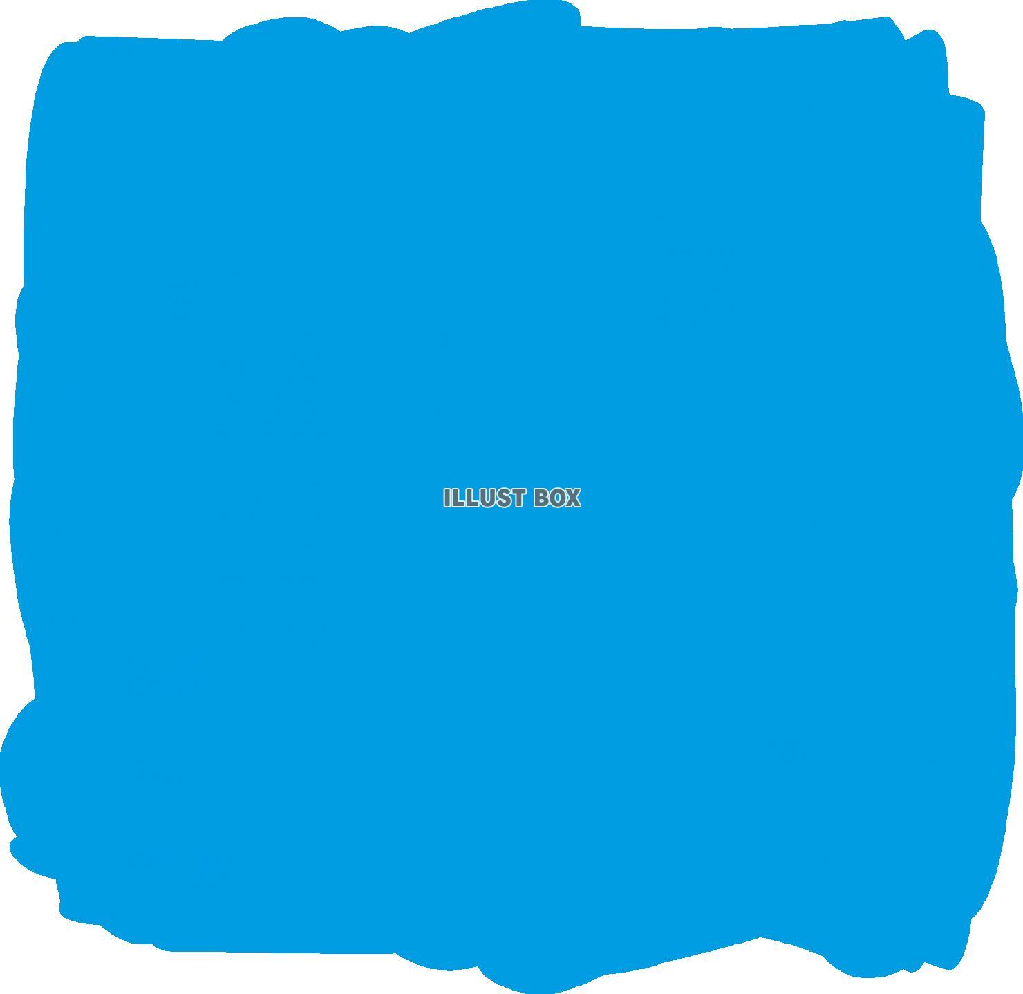 無料イラスト 水色水彩おしゃれフレーム枠背景イラスト枠シンプル