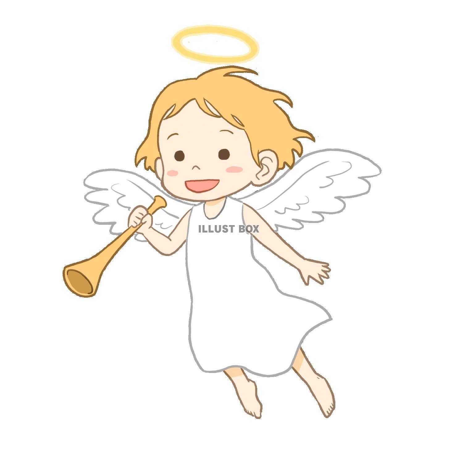 無料イラスト 天使