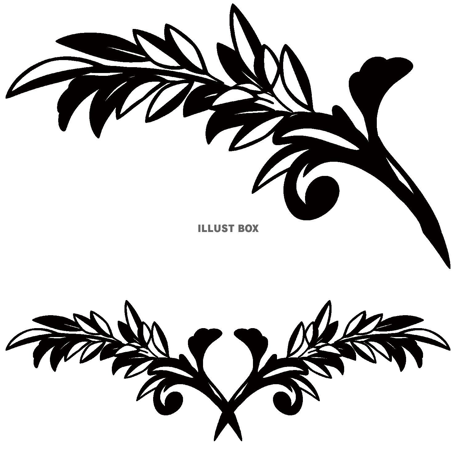 蔓草のフレーム7(黒)