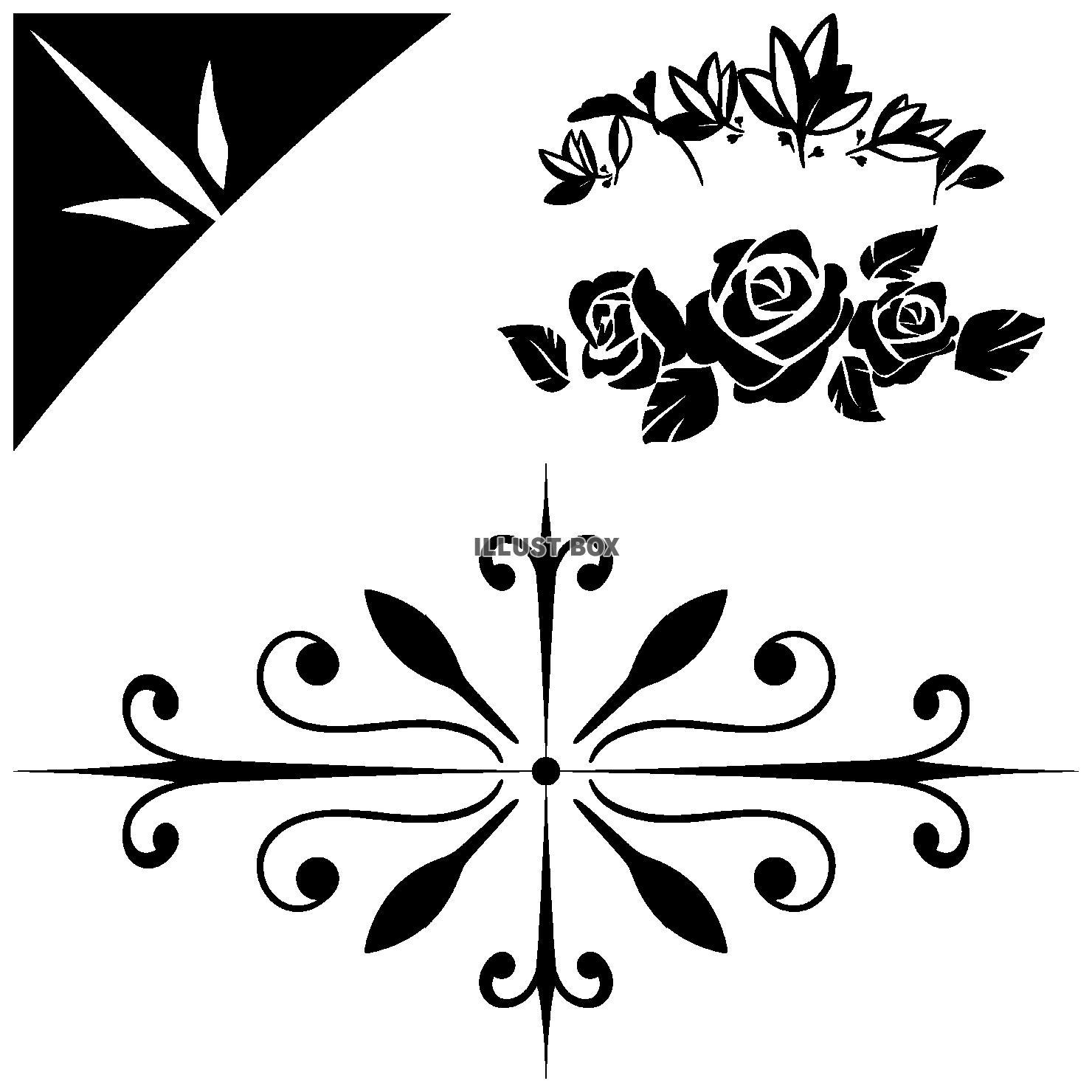 蔓草のフレーム10(黒)