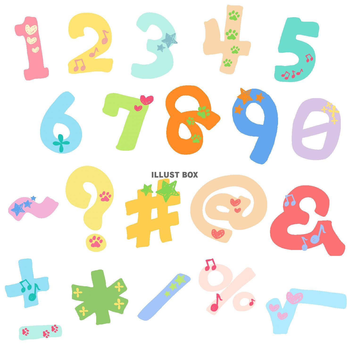 ゆる文字セット - 数字と記号
