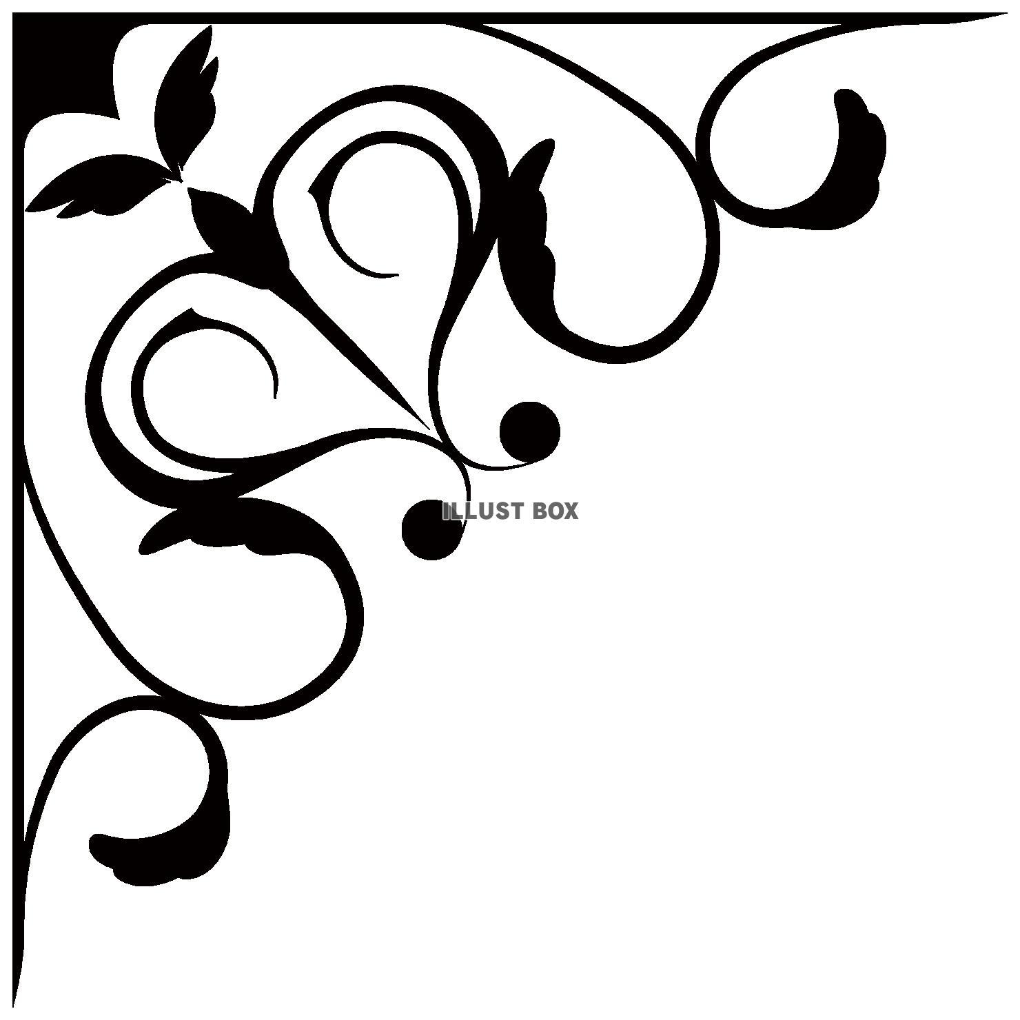 蔓草のフレーム13(黒)