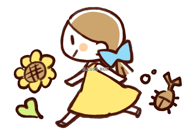 無料イラスト 夏の女の子