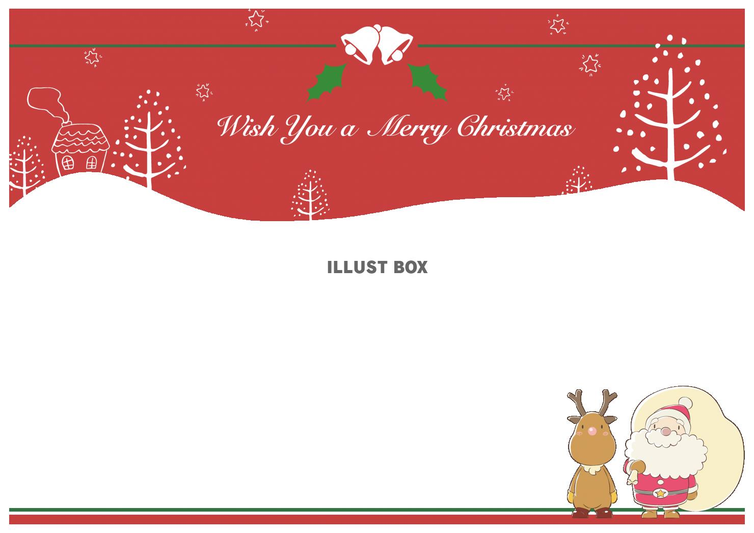 クリスマスカード2・赤