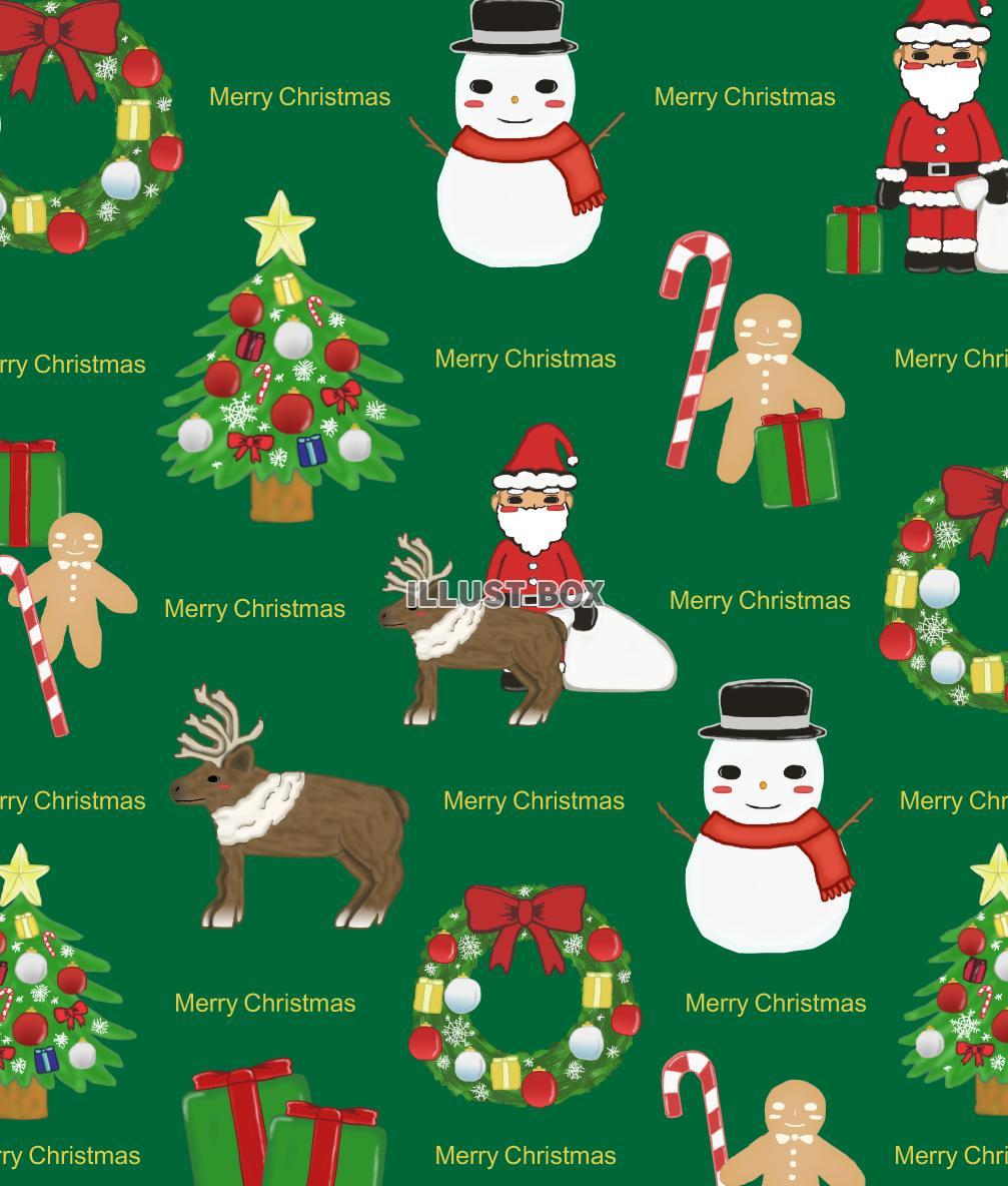 無料イラスト クリスマスの壁紙 緑 Png