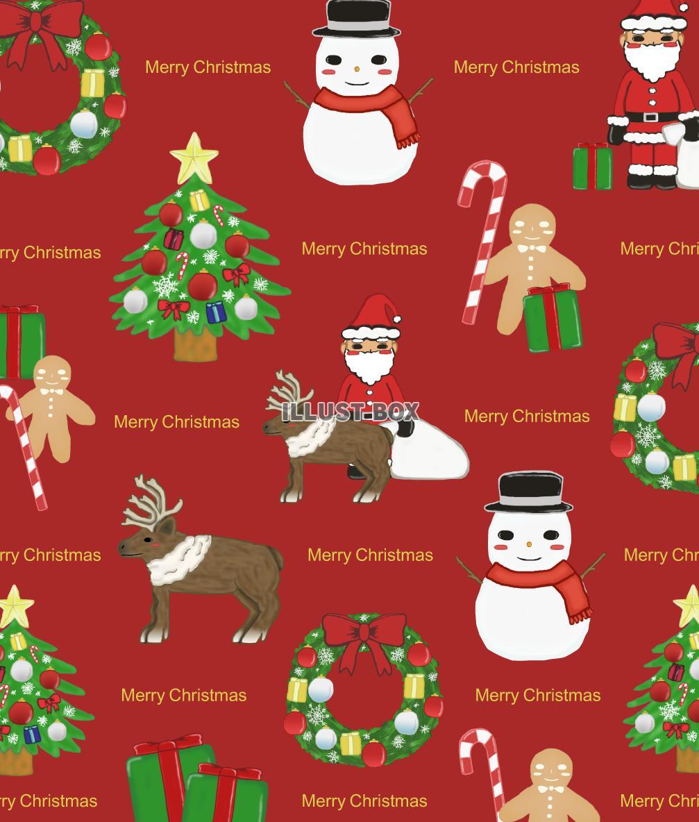 無料イラスト クリスマスの壁紙 赤 Png