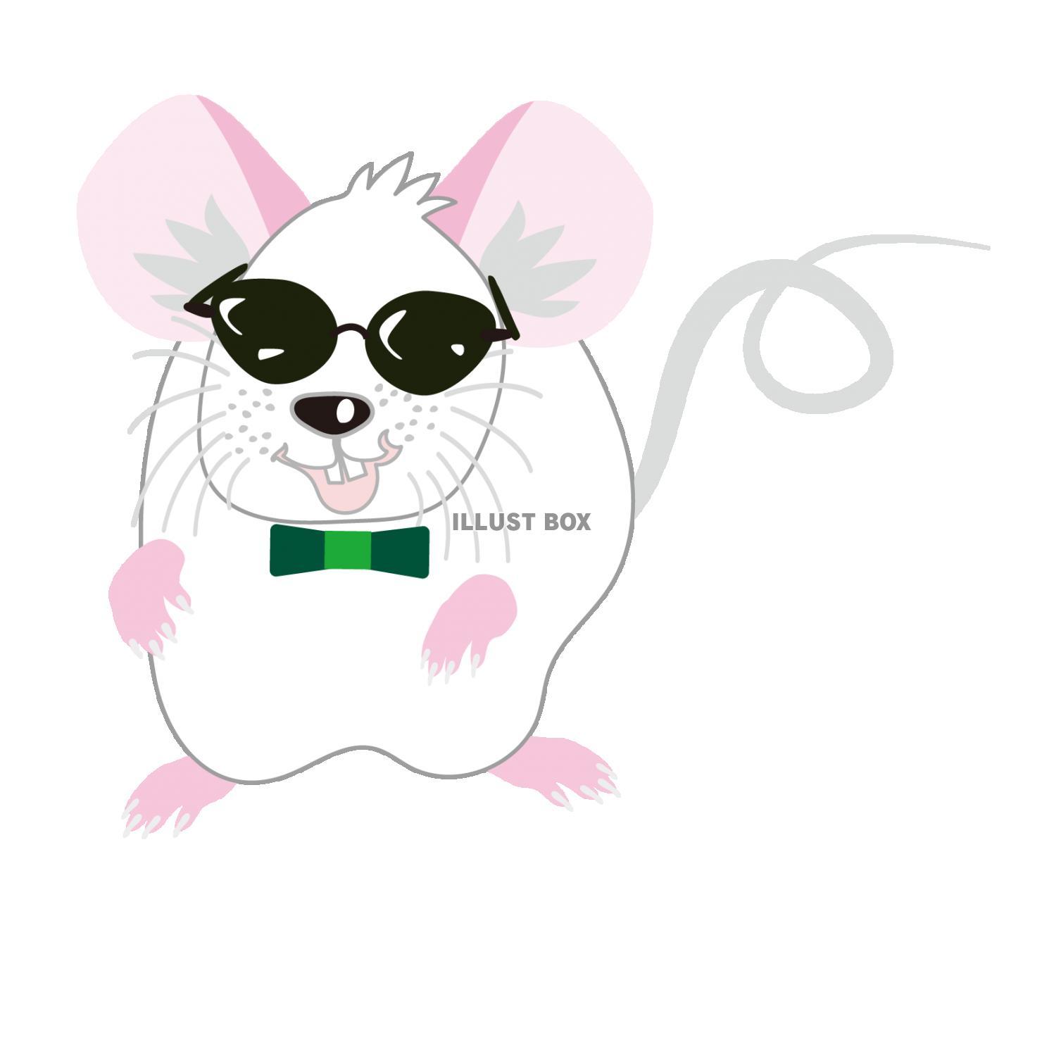 無料イラスト ネズミの可愛いイラスト 2020年子年の年賀状素材