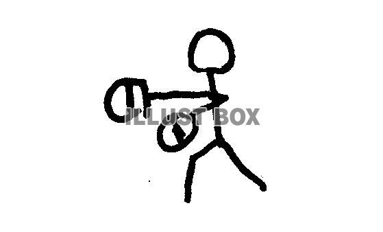 無料イラスト イラスト素材 棒人間ボクシング