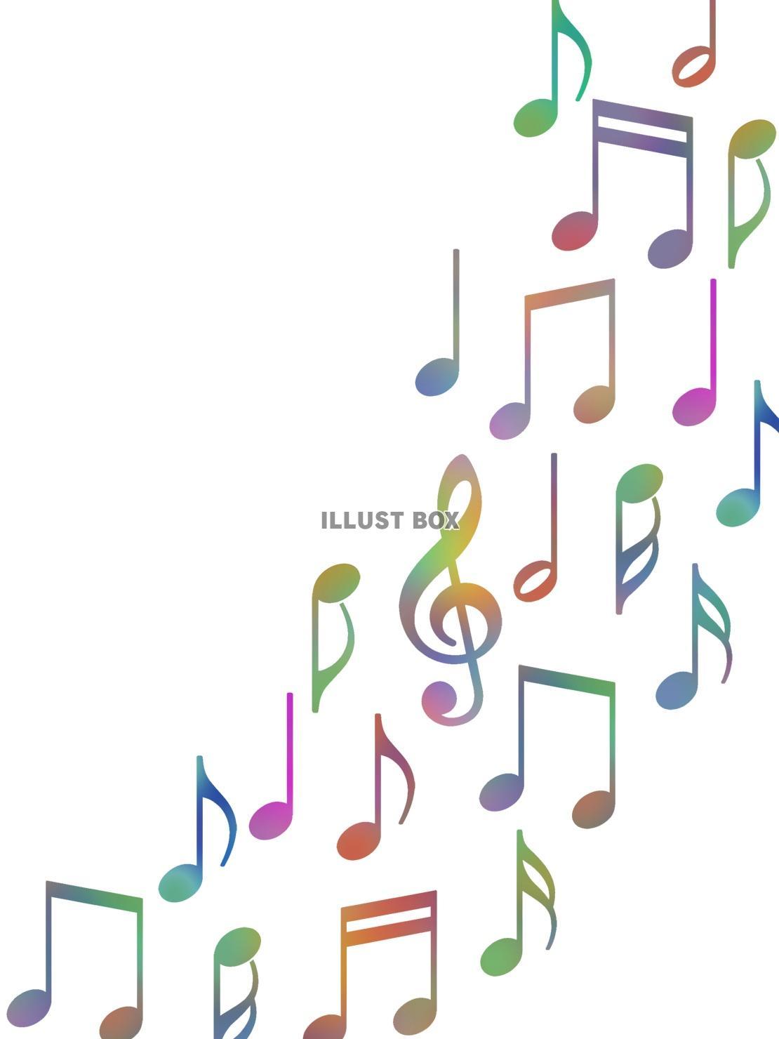 無料イラスト 音符壁紙画像カラフル音楽背景素材イラスト ベクターあり