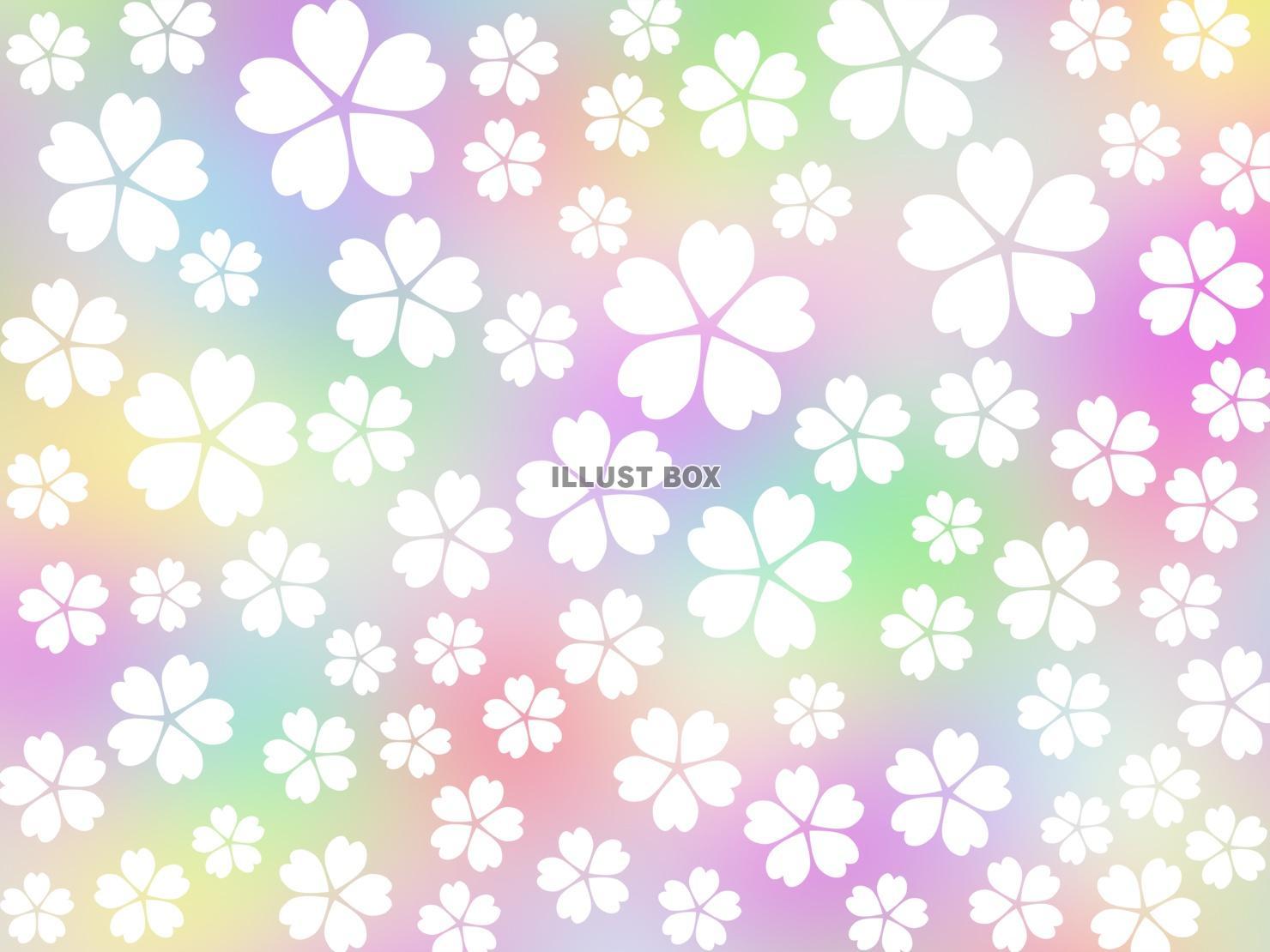 無料イラスト 桜の花模様壁紙カラフル背景素材イラスト ベクターあり