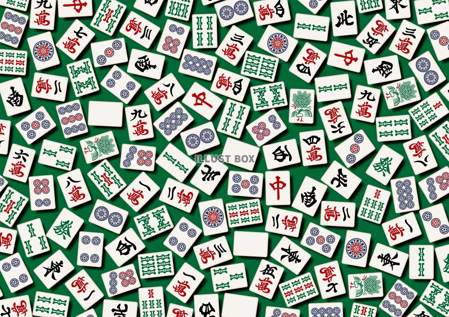 無料イラスト 麻雀牌の壁紙 マージャンのイメージ