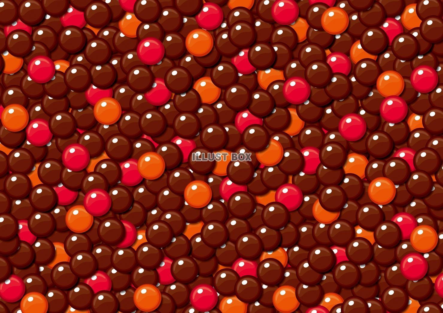 無料イラスト チョコ バレンタインデー 粒チョコ 壁紙