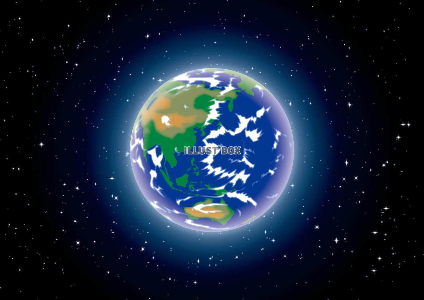 無料イラスト 地球 宇宙 星空 壁紙