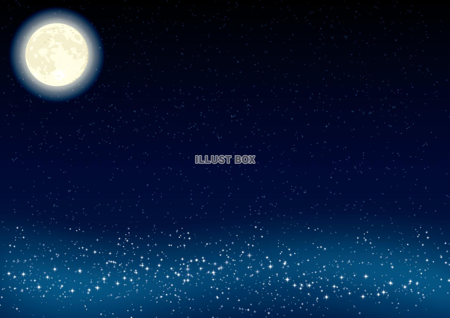 無料イラスト 月 宇宙 星空 壁紙