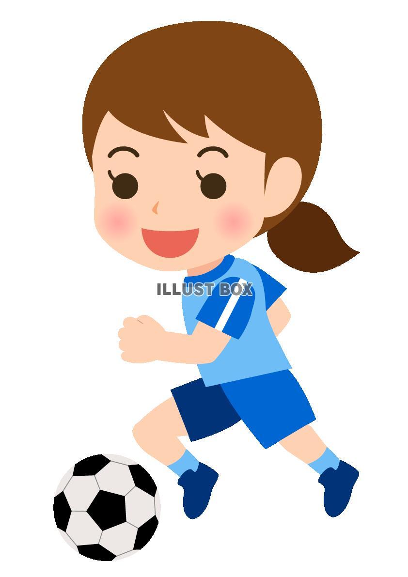 「サッカー女 イラスト」の画像検索結果