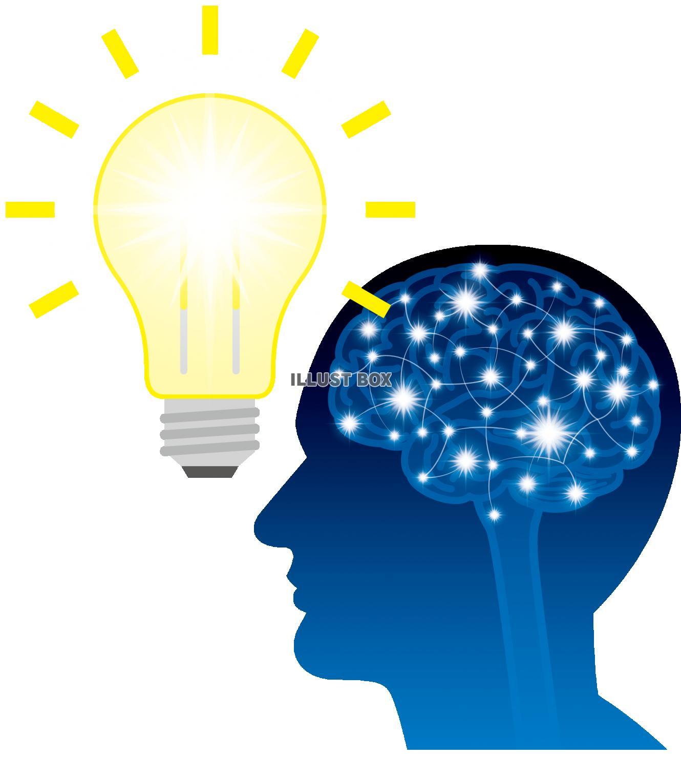 無料イラスト 脳 電球 アイデア