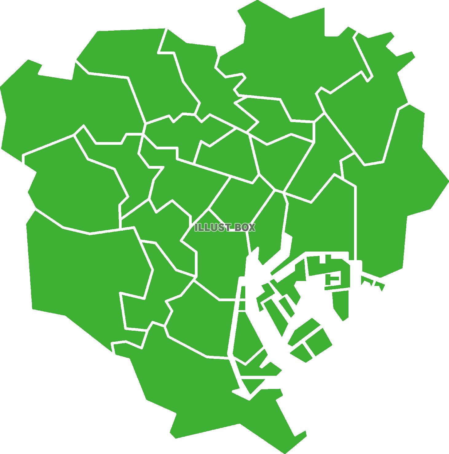 の 東京 23 地図 区