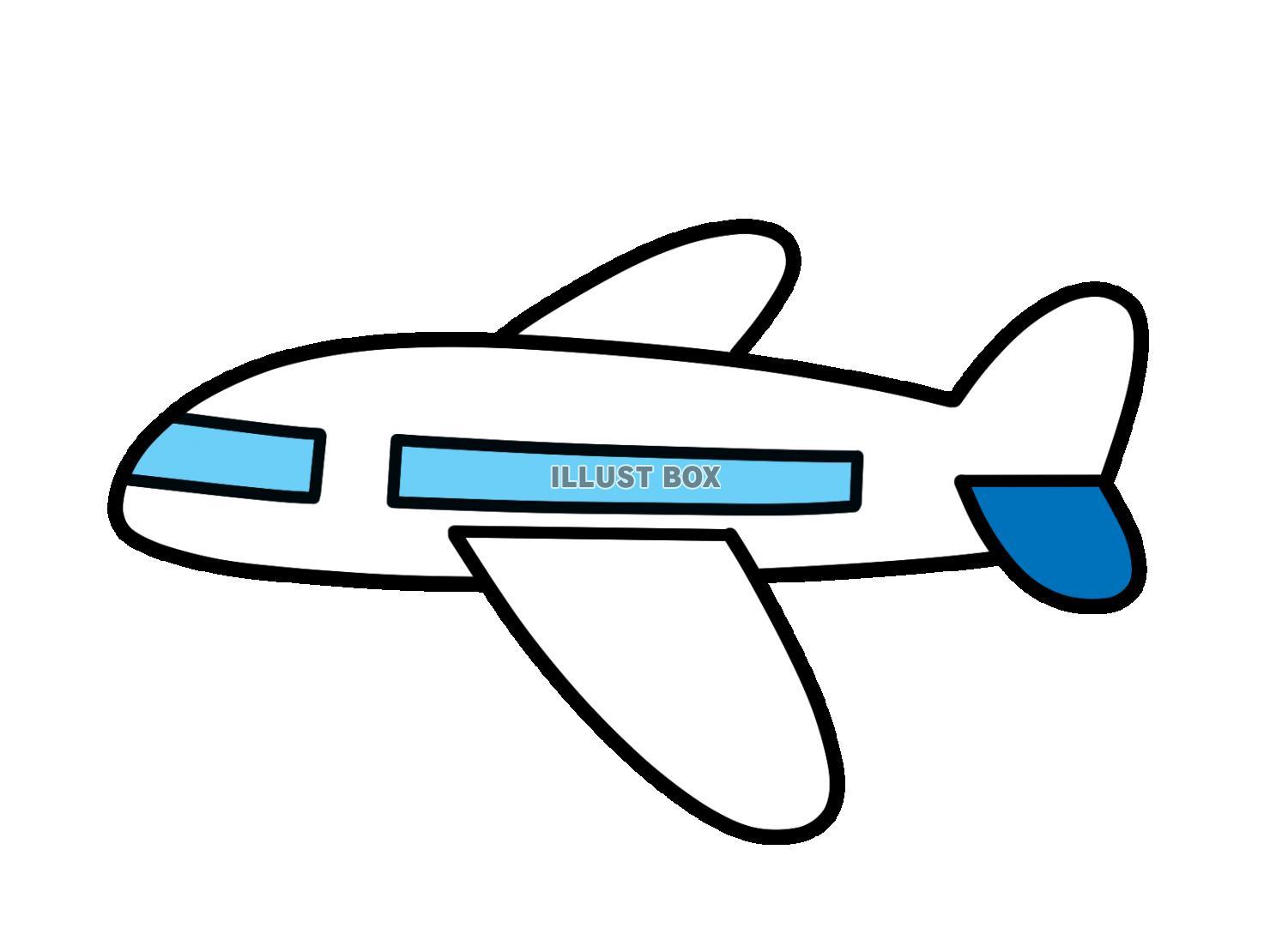 おしゃれ シルエット 航空機 イラスト