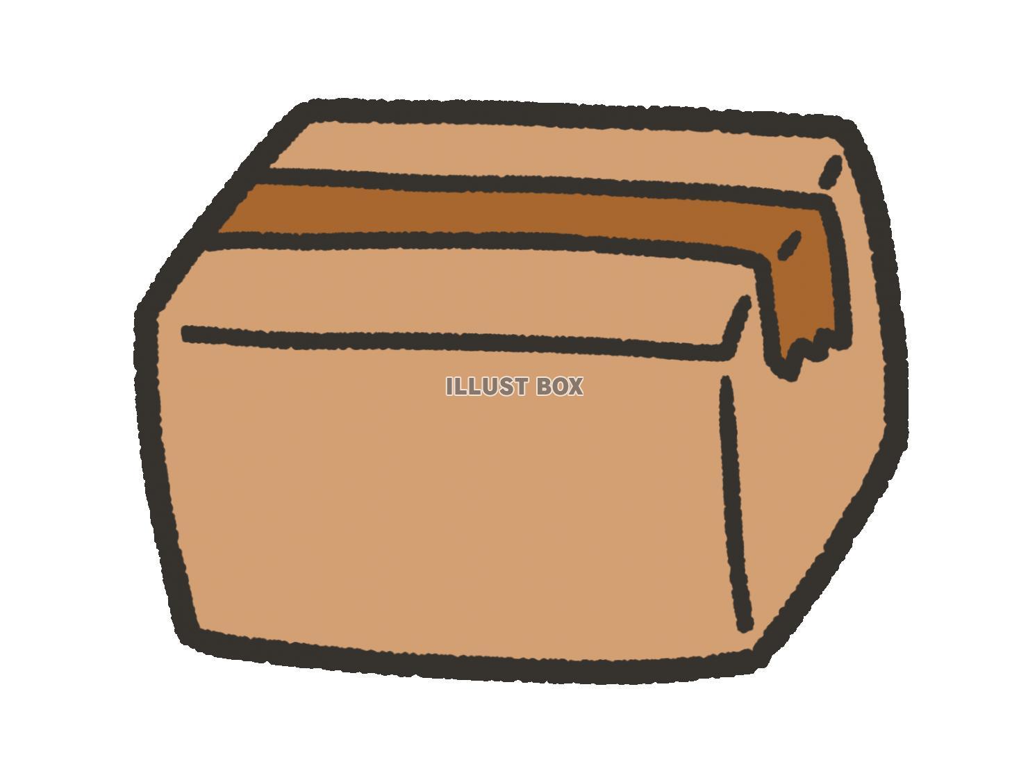 無料イラスト かわいいダンボール箱