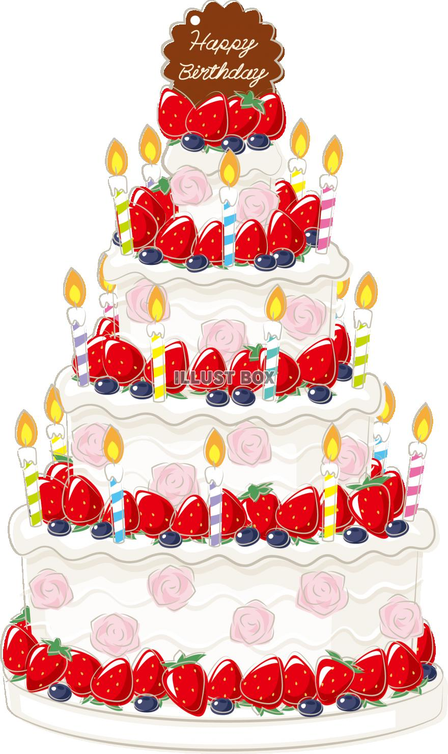 無料イラスト バースデーケーキ 誕生日