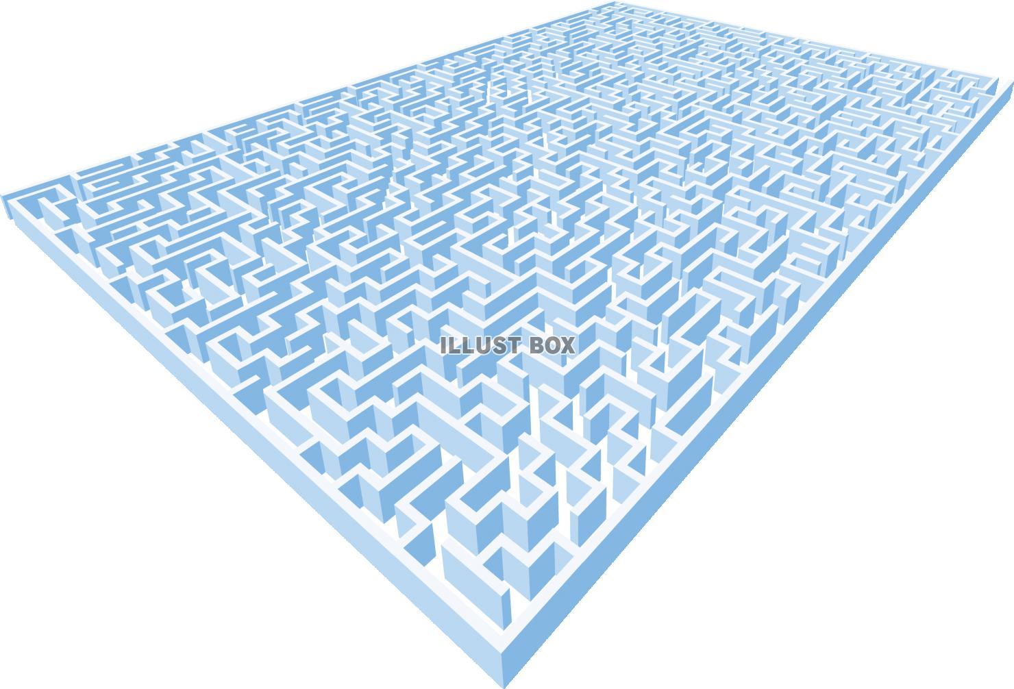 無料イラスト 立体的な迷路 ゲーム パズル