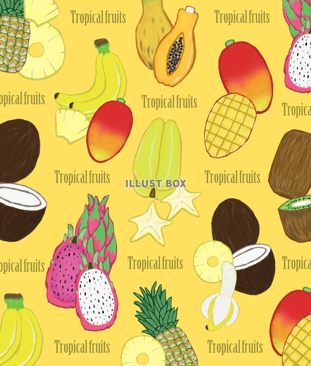 無料イラスト トロピカルフルーツの壁紙 Jpg