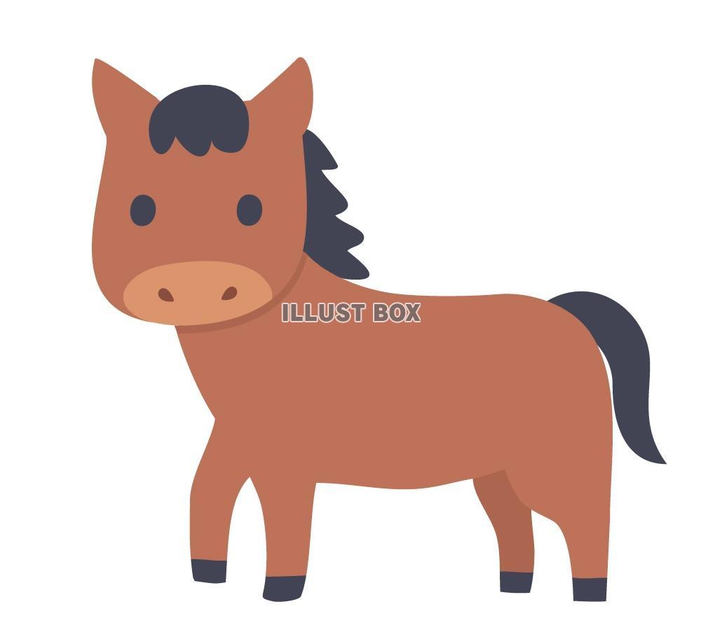 無料イラスト かわいい馬