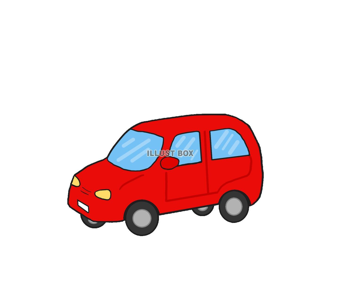 無料イラスト 赤い車