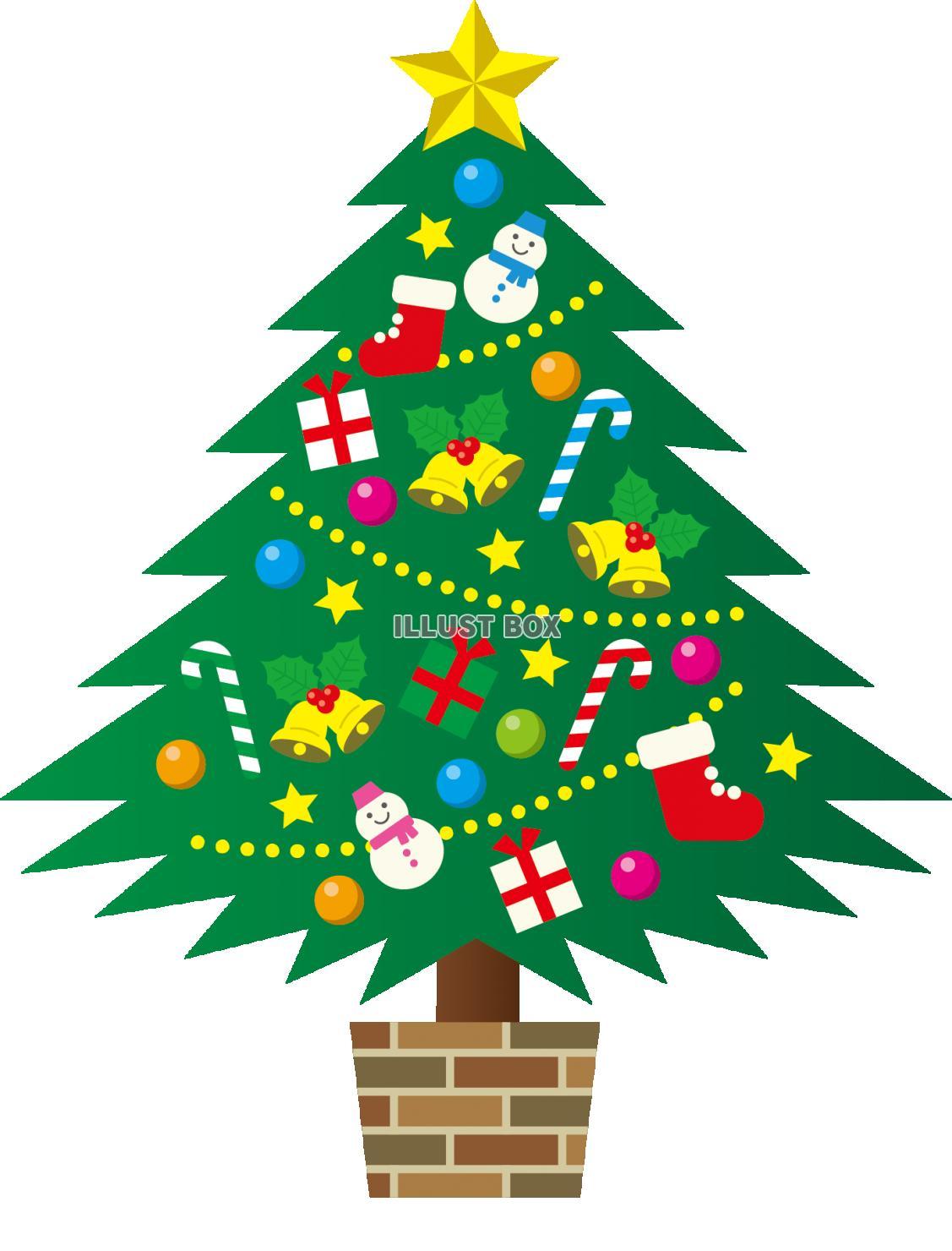 クリスマスツリー」イラスト無料