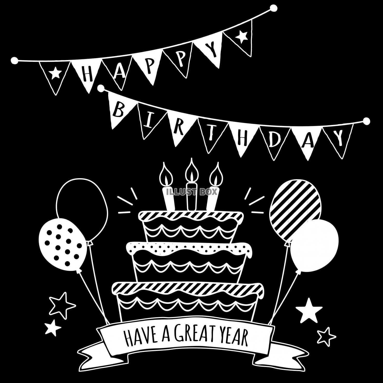 誕生日★Happy Birthdayロゴ★フォント