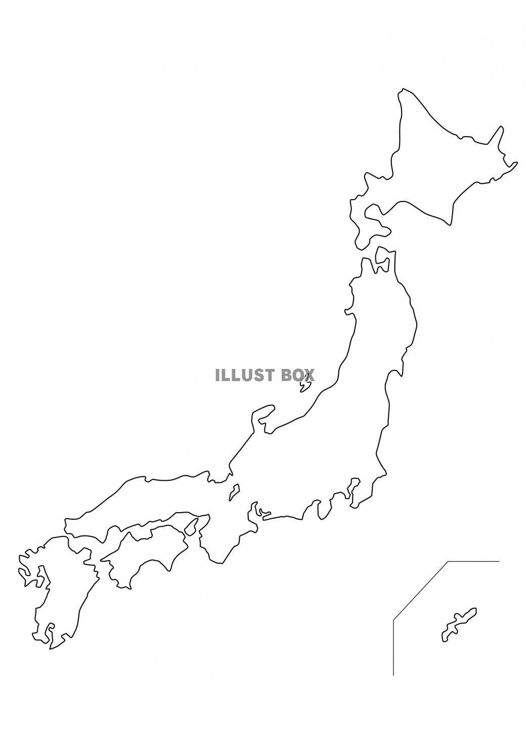 日本 地図 白地図
