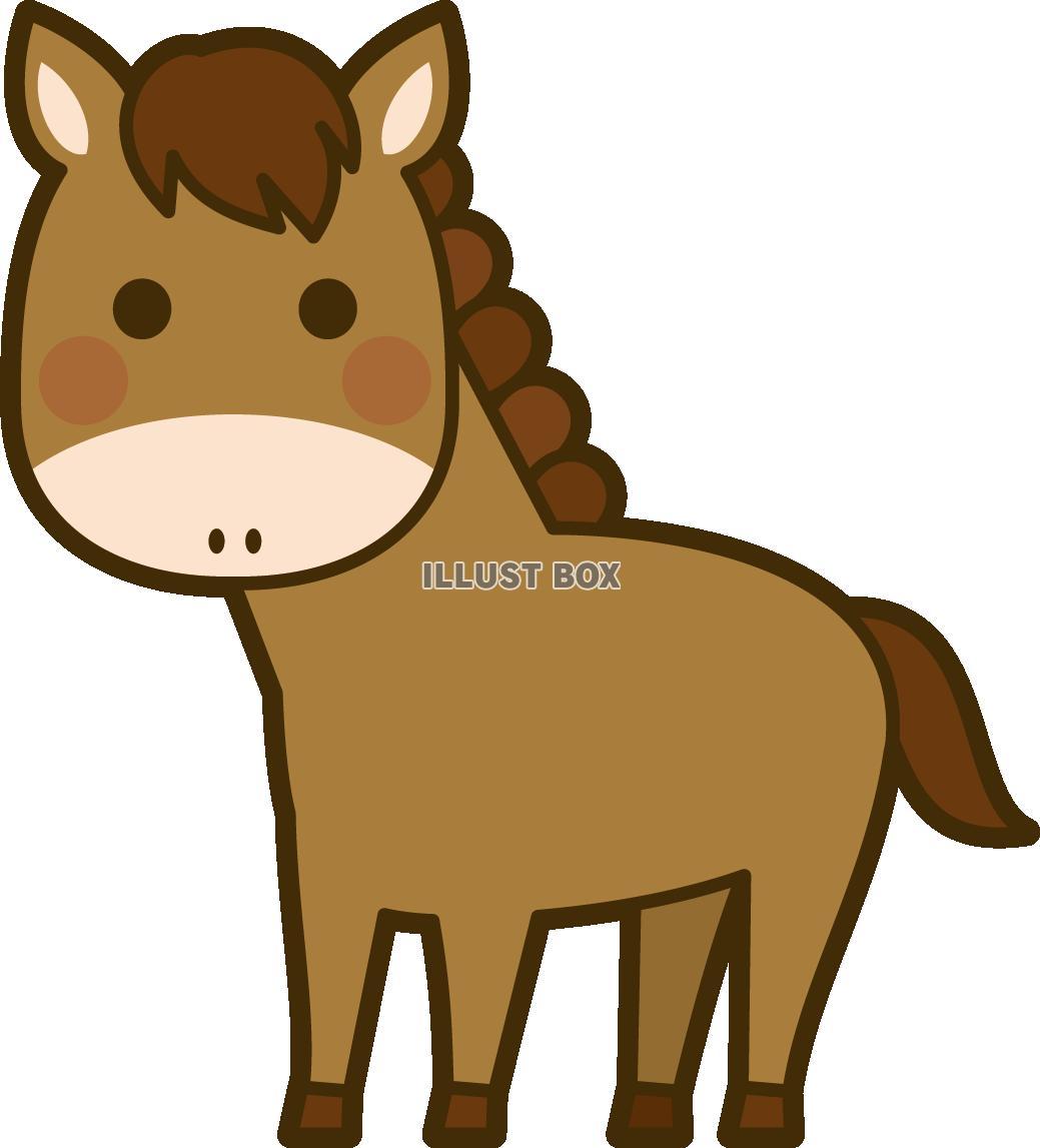無料イラスト 馬
